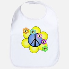 Peace Blossoms /blue Bib