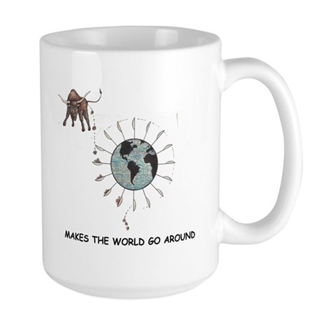 bull shit b.s. WORLD Large Mug