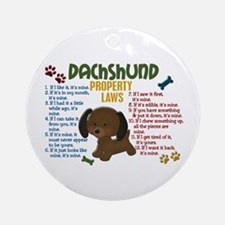 Dachshund Property Laws 4 Ornament (Round)