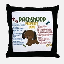 Dachshund Property Laws 4 Throw Pillow