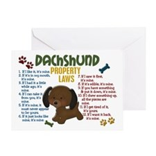Dachshund Property Laws 4 Greeting Card