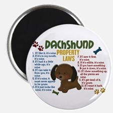 "Dachshund Property Laws 4 2.25"" Magnet (100 pack)"