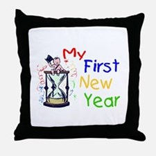 My First New Year Throw Pillow