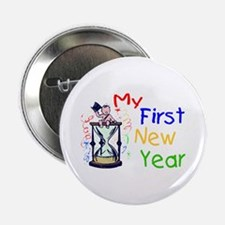 """My First New Year 2.25"""" Button"""