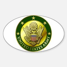 Army Green Logo Oval Decal