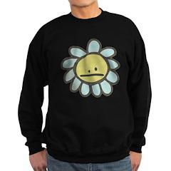 Sad Blue Flower Cartoon Sweatshirt (dark)