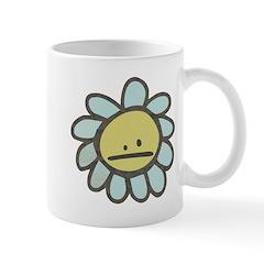 Sad Blue Flower Cartoon Mug