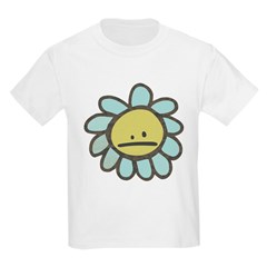 Sad Blue Flower Cartoon T-Shirt