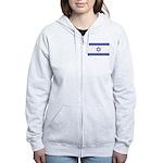 Israeli Flag Women's Zip Hoodie