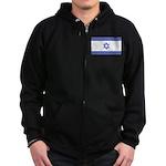 Israeli Flag Zip Hoodie (dark)
