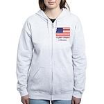 God Bless America Women's Zip Hoodie