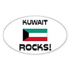 Kuwait Rocks! Oval Decal