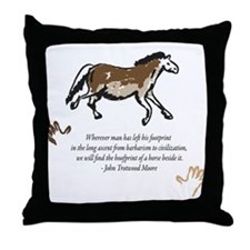 Mankinds Ascent Throw Pillow