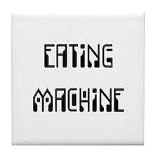 Eating Machine Black Tile Coaster