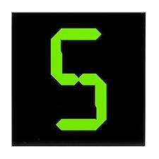 "Chartreuse on Black ""5"" Tile Coaster"