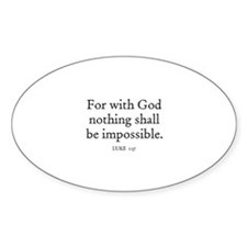 LUKE 1:37 Oval Decal