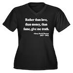 Henry David Thoreau 37 Women's Plus Size V-Neck Da