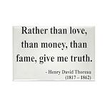 Henry David Thoreau 37 Rectangle Magnet (100 pack)