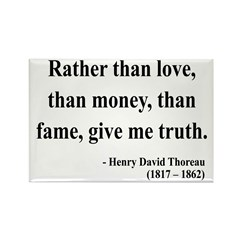 Henry David Thoreau 37 Rectangle Magnet (100 pack)