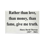 Henry David Thoreau 37 Rectangle Magnet (10 pack)