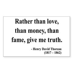 Henry David Thoreau 37 Rectangle Decal