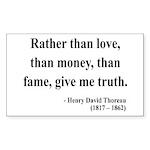Henry David Thoreau 37 Rectangle Sticker