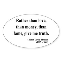 Henry David Thoreau 37 Oval Decal