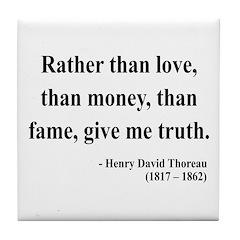 Henry David Thoreau 37 Tile Coaster