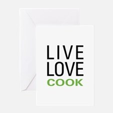 Live Love Cook Greeting Card