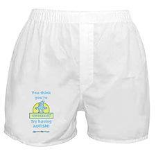 Autism Stress (blue) Boxer Shorts