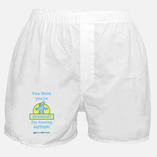 Autism Stress (blue) Boxer Shorts