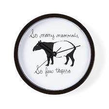 So few Tapirs Wall Clock