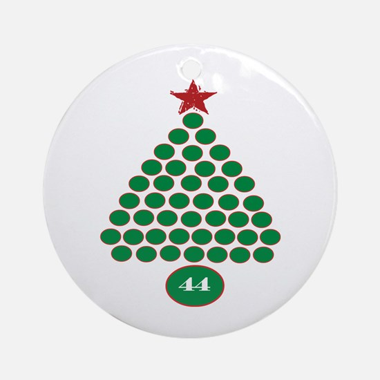 oddFrogg Obama 44 Christmas Ornament (Round)