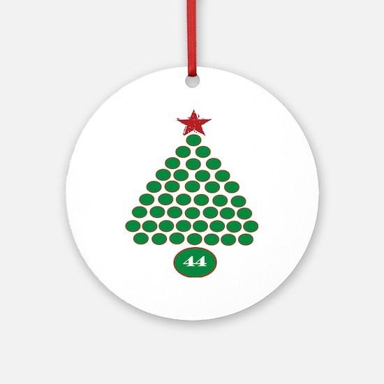 oddFrogg Obama 44 Christmas Ornament (Round)