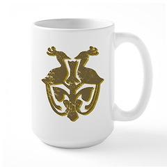 Vintage Primitive Bird Crest Mug