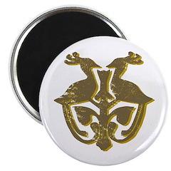 """Vintage Primitive Bird Crest 2.25"""" Magnet (10"""