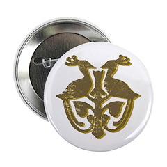 "Vintage Primitive Bird Crest 2.25"" Button (10"