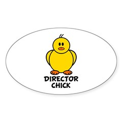 Director Chick Oval Decal