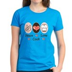 Peace Love Cook Chef Women's Dark T-Shirt
