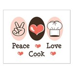 Peace Love Cook Chef Small Poster