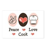 Peace Love Cook Chef Postcards (Package of 8)