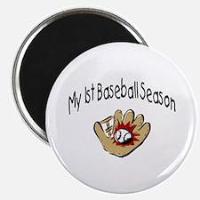 My First Baseball Season Magnet