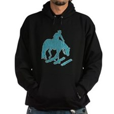 Teal trail horse with poles Hoody