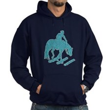 Teal trail horse with poles Hoodie
