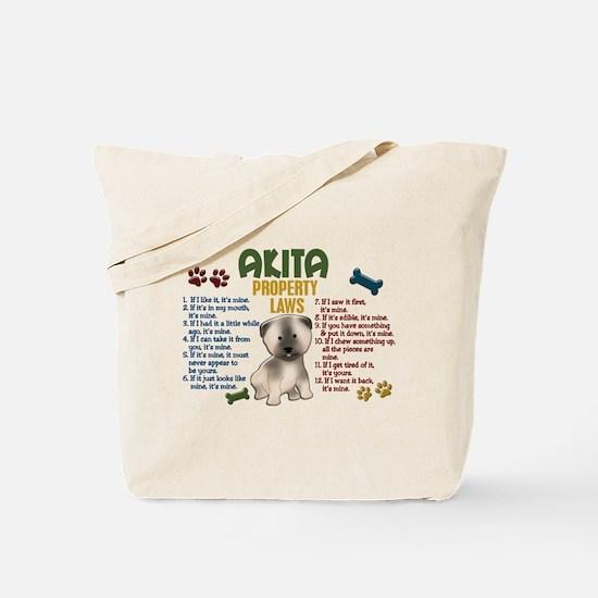 Akita Property Laws 4 Tote Bag