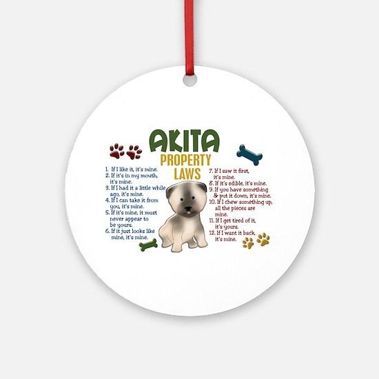 Akita Property Laws 4 Ornament (Round)