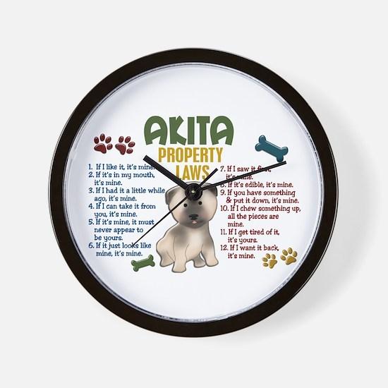 Akita Property Laws 4 Wall Clock