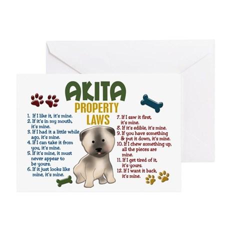 Akita Property Laws 4 Greeting Card
