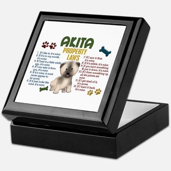 Akita Property Laws 4 Keepsake Box