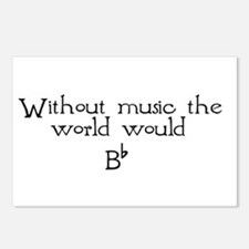 Without Music The World Would Postcards (Package o